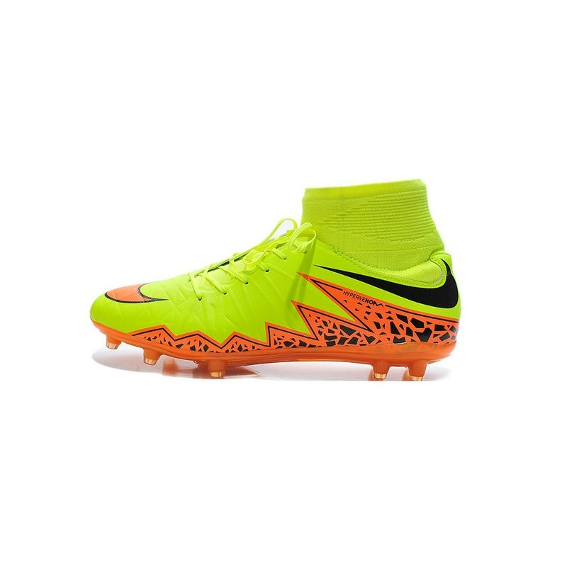 chaussures 2015 nouvelle nike hypervenom phantom ii fg acc jaune orange. Black Bedroom Furniture Sets. Home Design Ideas