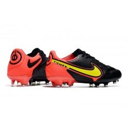 Chaussures de Foot Nike Phantom GT Elite DF FG Noir Rouge Chili Gris