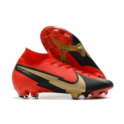 Nike Mercurial Superfly 7 Elite DF FG Rouge Noir Or