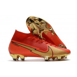 Nike Mercurial Superfly 7 Elite DF FG CR100 Rouge Or