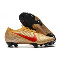 Chaussure Nike Mercurial Vapor 13 Elite FG Or Rouge