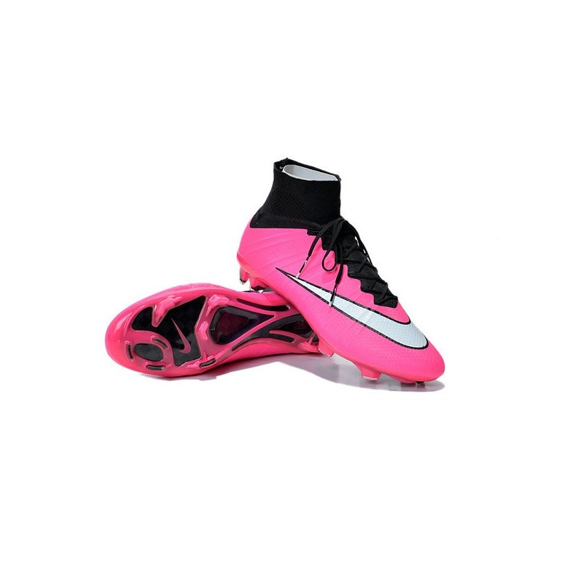 chaussure de foot nouvel 2015 nike mercurial superfly fg rose blanc noir. Black Bedroom Furniture Sets. Home Design Ideas