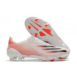 Crampons Foot adidas X Ghosted+ FG Blanc Rouge Noir