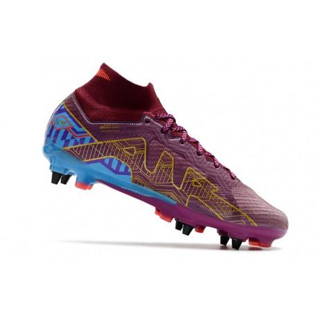 Crampons Foot adidas X Ghosted+ FG Superstealth - Noir Bleu cyan