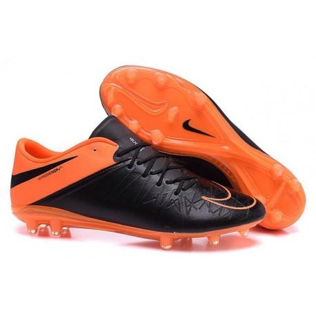 Chaussures 2015 Nike Hypervenom Phantom II FG Neuf Noir Orange