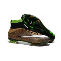 Cristiano Ronaldo Chaussures Nike Mercurial Superfly FG ACC Multicolore Blanc