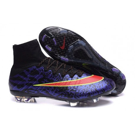 Cristiano Ronaldo Chaussures Nike Mercurial Superfly FG ACC Violet Rouge