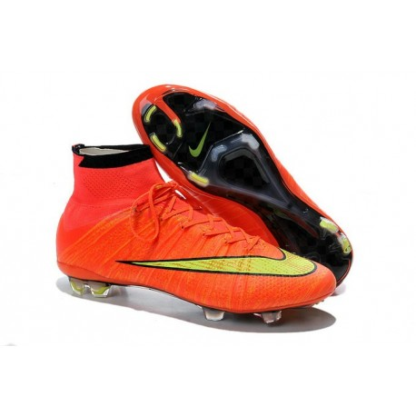 Nouvelles Nike Chaussures Football Mercurial Superfly FG ACC Hyper Punch Or Noir