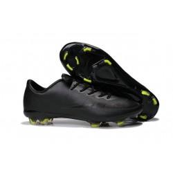 Crampons Football Nike Mercurial Vapor X FG Homme Violet Vert Tout Noir