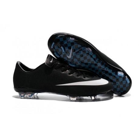 Nike Nouveaux Chaussures Mercurial Vapor X FG Ronaldo CR7 Noir Blanc