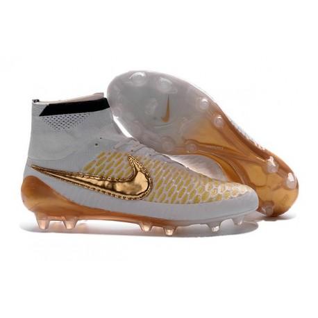 Meilleur Chaussures 2016 Nike Magista Obra FG ACC Blanc Or