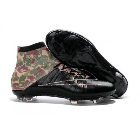 Chaussure a Crampon 2016 Neuf Nike Mercurial Superfly FG Camouflage Noir