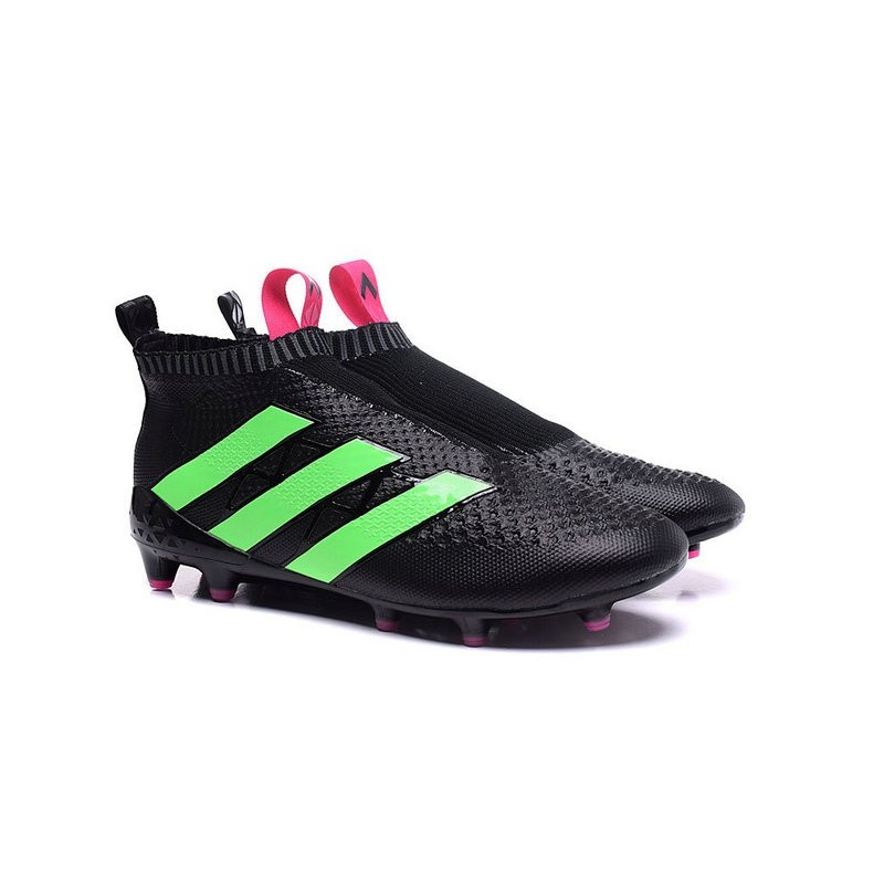crampons de foot adidas ace16 purecontrol fg ag neuf noir vert rose. Black Bedroom Furniture Sets. Home Design Ideas