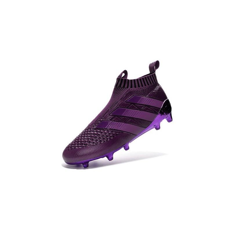 new arrival 354fe ee8cb Adidas Neuf Crampons Foncé De Fgag Foot Violet Ace16 Purecontrol PTZafEYqZ