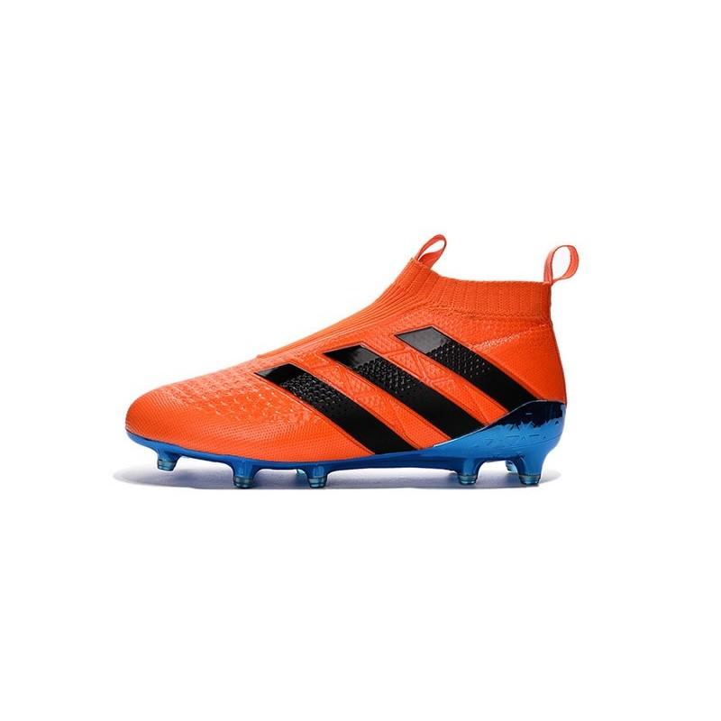 crampons de foot adidas ace16 purecontrol fg ag neuf orange bleu. Black Bedroom Furniture Sets. Home Design Ideas