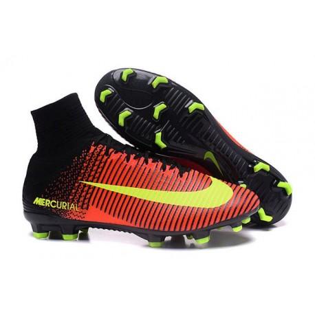 Crampons Football Neuf Nike Mercurial Superfly 5 FG Rose Fluo Orange