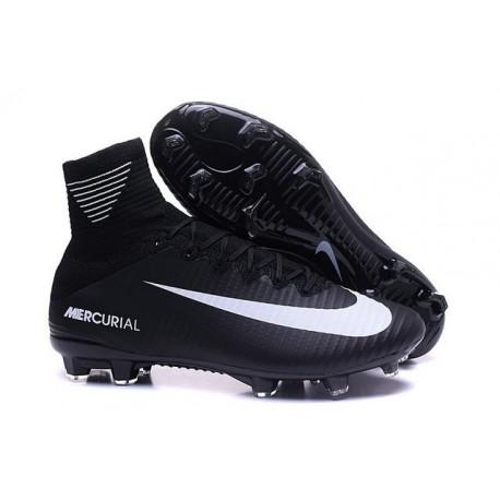 Nike Chaussure de Foot Mercurial Superfly V FG Noir Blanche