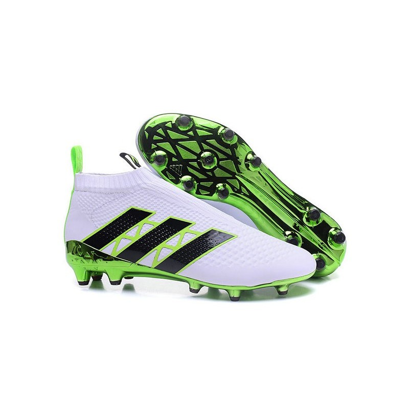 Ace16Pure Noir Chaussures Homme Blanc Adidas Fg Control Vert Football v8nONym0w