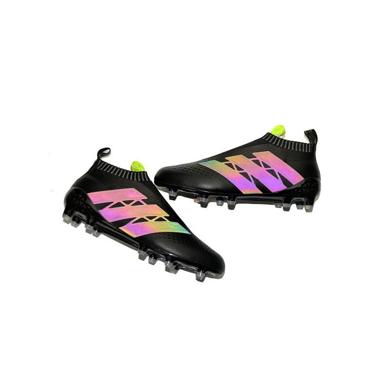 Homme Ace16Pure Noir Jaune Chaussures Fg Football Adidas Control Y7bvf6gy