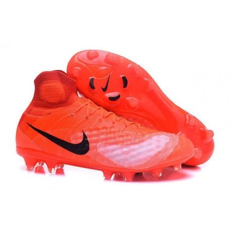 Nike Magista Obra 2 FG Nouveaux Chaussures Homme Orange Noir
