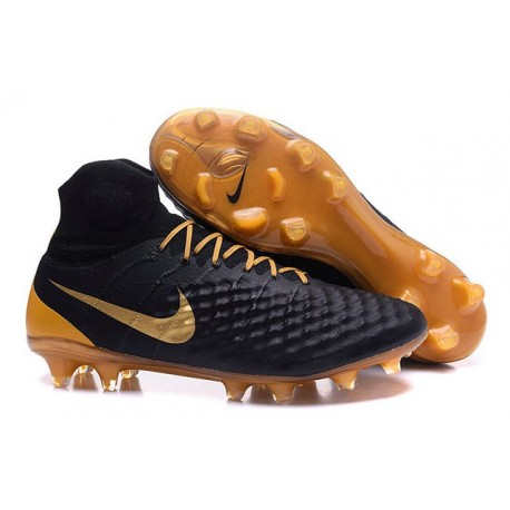 Nike Magista Obra 2 FG Nouveaux Chaussures Homme Noir Or