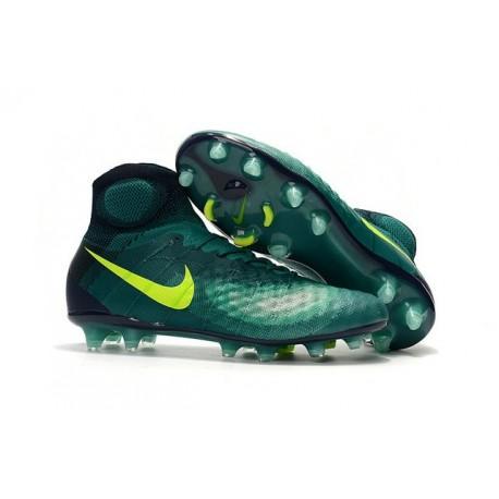 Crampons de Football Nouvelles Nike Magista Obra II FG Vert Jaune