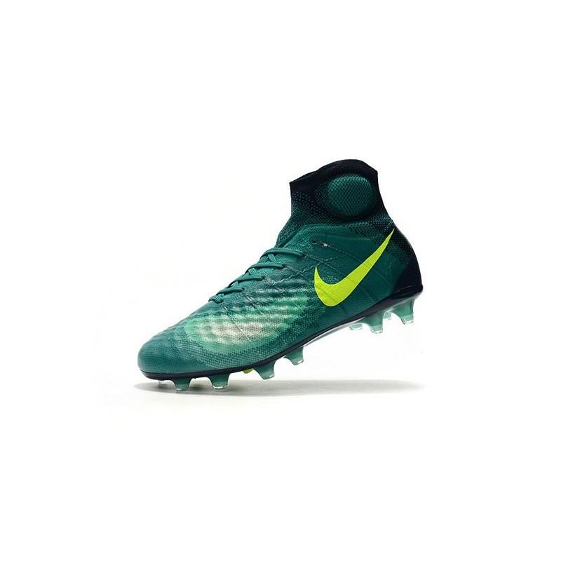 en soldes b3ab9 da122 Crampons de Football Nouvelles Nike Magista Obra II FG Vert ...