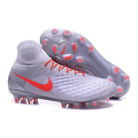 Crampons de Football Nouvelles Nike Magista Obra II FG Blanc Orange