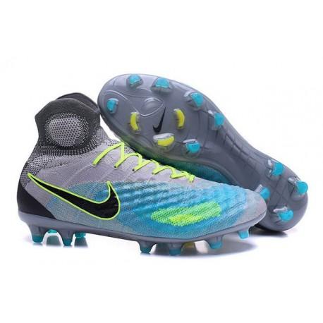 Crampons de Football Nouvelles Nike Magista Obra II FG Gris Bleu