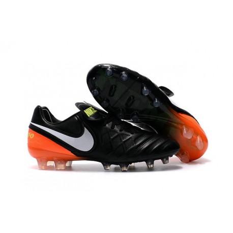 Nouveau Crampon Football Nike Tiempo Legend 6 FG ACC Noir Orange Blanc