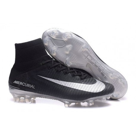 Nike Crampon Football Mercurial Superfly V FG Homme Noir Argent