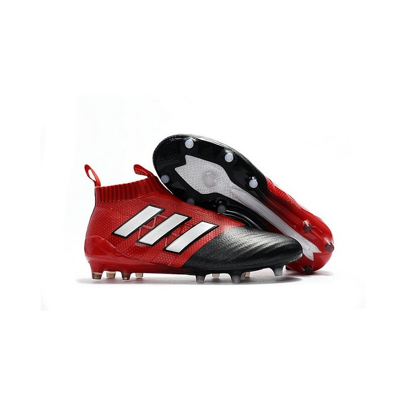 new york professional sale another chance adidas Ace17+ PureControl FG Chaussures Football Noir Rouge ...