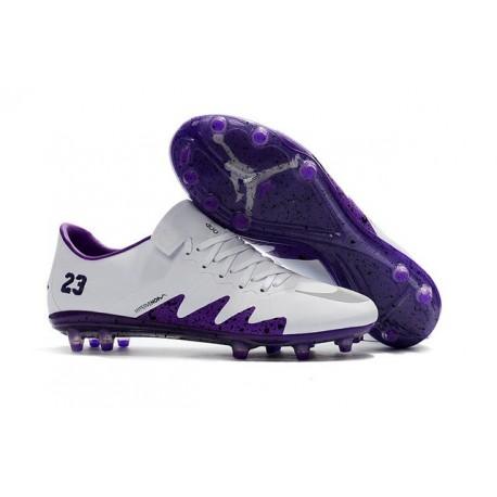 Nike Hypervenom Phinish FG Nouveaux Chaussures de Foot Blanc Violet
