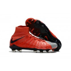 Nike Chaussure Football 2017 Hypervenom Phantom III DF FG Rouge Gris