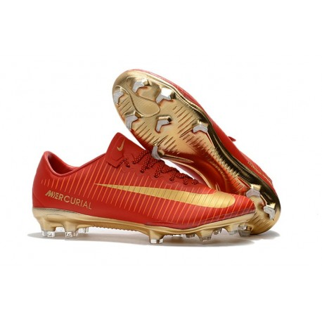 Nike Mercurial Vapor XI FG Crampon Foot Neuf - Rouge Or