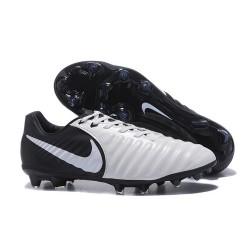 Nike Kangourou Tiempo Legend VII FG Crampon Football - Blanc Noir