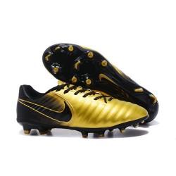 Nike Kangourou Tiempo Legend VII FG Crampon Football - Or Noir