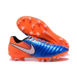Nike Kangourou Tiempo Legend VII FG Crampon Football - Orange Noir