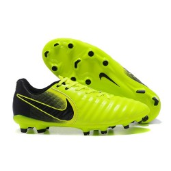 Nike Kangourou Tiempo Legend VII FG Crampon Football - Vert Noir