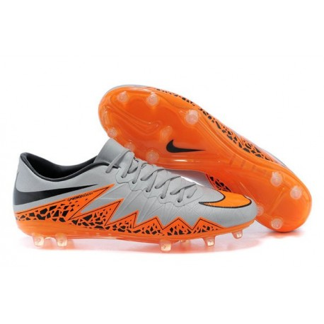 Chaussures 2015 Nike Hypervenom Phantom II FG Neuf Gris Orange