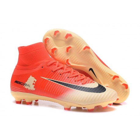 Nike Hommes Chaussure Nouveaux Mercurial Superfly 5 FG - Rouge Or