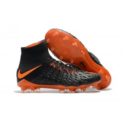Nike Hypervenom Phantom III DF Flyknit FG - Noir Orange