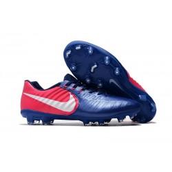 Chaussures de Foot Nouvelles Nike Tiempo Legend 7 FG - Bleu Rose