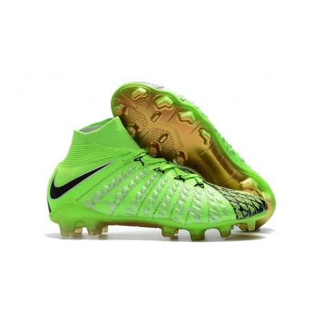 Chaussures Nike Hypervenom Phantom 3 DF FG - Vert Noir