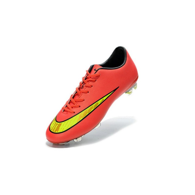Chaussure de foot Nike Mercurial Vapor 10 FG Synthétique Hyper Punch Or
