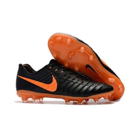Chaussures de Foot Nouvelles Nike Tiempo Legend 7 FG - Noir Orange
