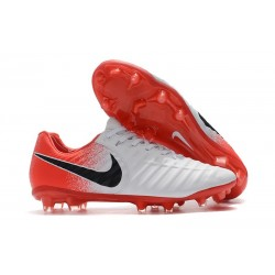 Nike Crampons de Football Tiempo Legend VII FG - Blanc Rouge