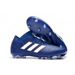 adidas Nemeziz Messi 18.1 FG Chaussures - Bleu Blanc