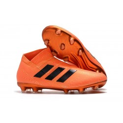 adidas Crampons de Football Nemeziz 18+FG - Orange Noir