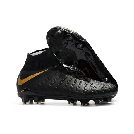 Chaussures Nike Hypervenom Phantom 3 DF FG - Noir Or